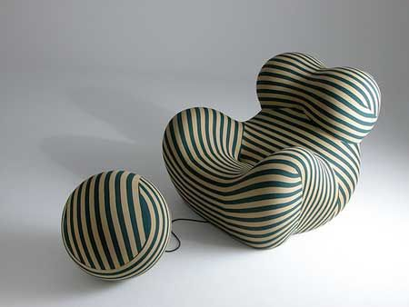 Chair And Ottoman By Gaetano Pesce