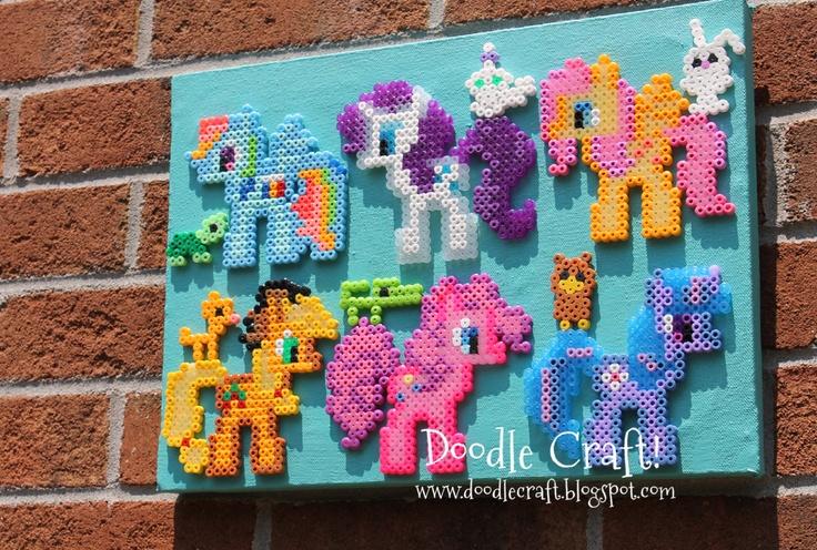 Doodle craft my little pony perler bead art girly for My little pony craft ideas