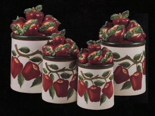 66 best my red country apple themed kitchen images on for Apple themed kitchen ideas