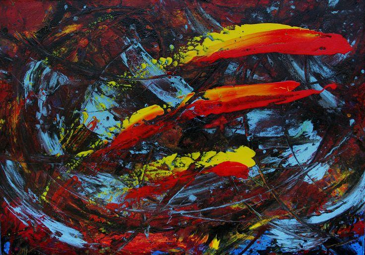 Acrylic on canvas - 1:00 mt x 0:80 mt. Gustavo A. Villegas H guscausaefecto@gmail Cel: (57) 313 432 7154 Fijo: 460 12 45