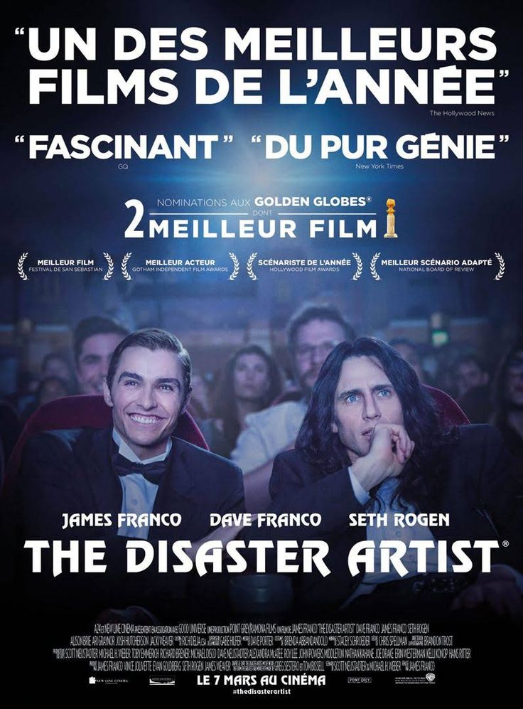 sortie ciné 7 mars 2018 Film The Disaster Artist de