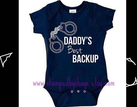 Police Baby Onesie Police Baby Daddy's Best by StampedbyShaye, $14.00
