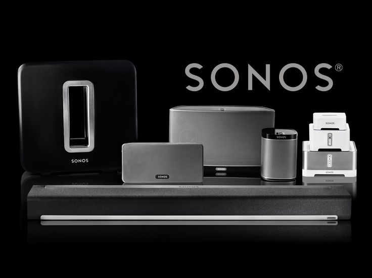 SONOS Wi-Fi wireless sound system for the whole house.