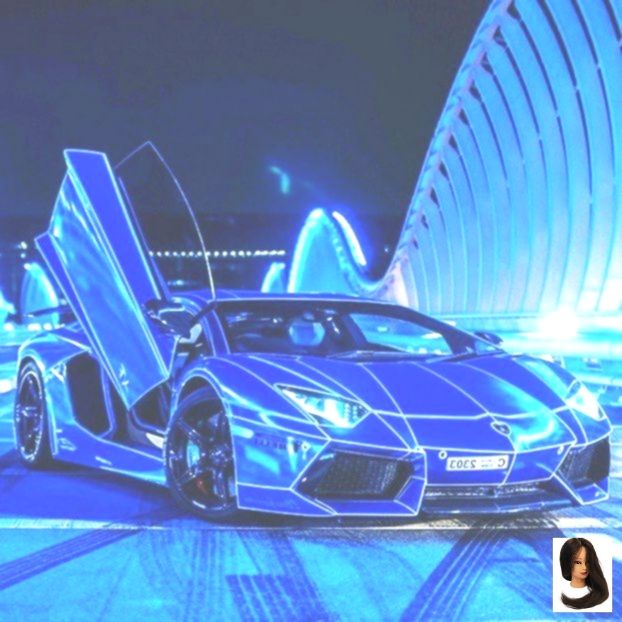 Mein Neues Lamborghini Supercar Stunning Neon Blau Farbe Auf Neon Opera House Sydney Opera House