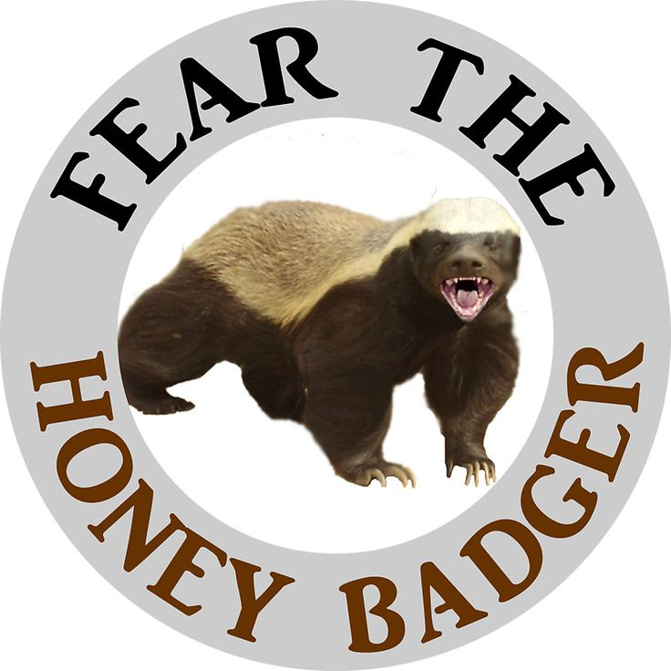 Fear the honey badger honey badger badger honey