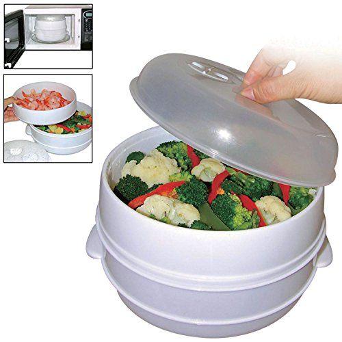 Lot de 2 étagères de riz et légumes, passe au micro-onde, cuit vapeur pour faitout à pâtes