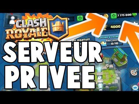 Comment aller sur un serveur privé clash royal - YouTube