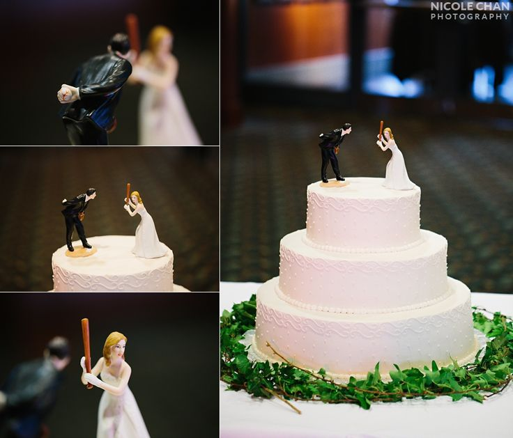 Humurous Wedding Reception Cake Topper