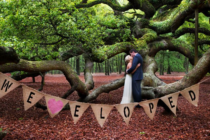 Elopement at Angel Oak tree in Charleston, SC. This place has amazing elopement packages!!