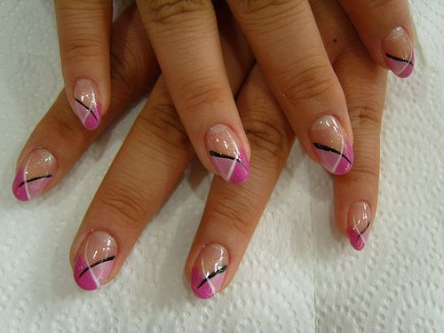 87 best nail art images on pinterest nail designs enamels and pink french tip nail designs nail art french style prinsesfo Choice Image