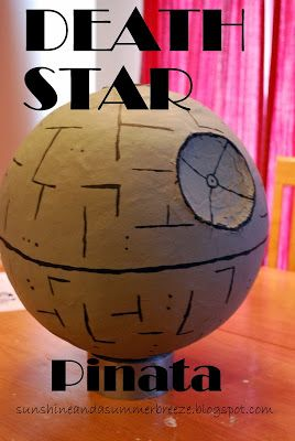 Sunshine and a Summer Breeze: DIY Death Star Pinata