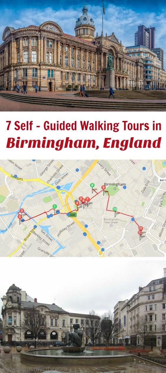 self guided walking tours in Birmingham England