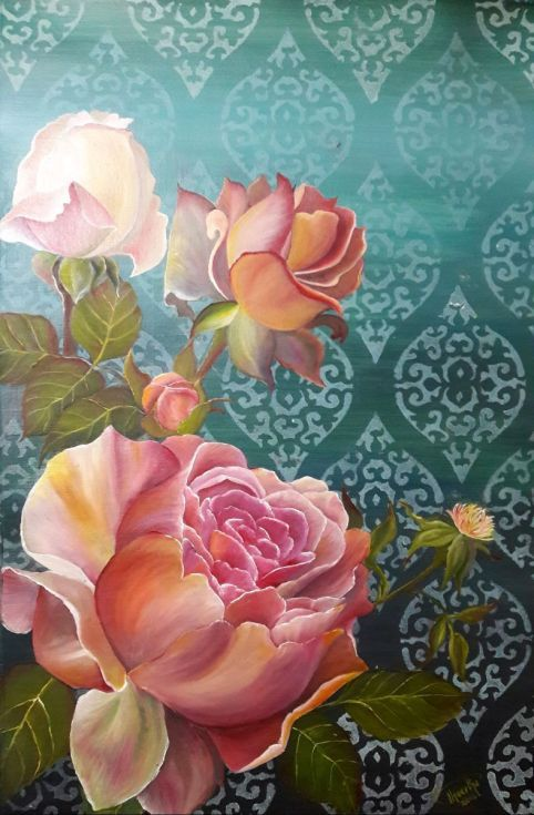 Buy Vintage Roses, Mixed Media painting by Theertha Raj on Artfinder. Discover thousands of other original paintings, prints, sculptures and photography from independent artists.