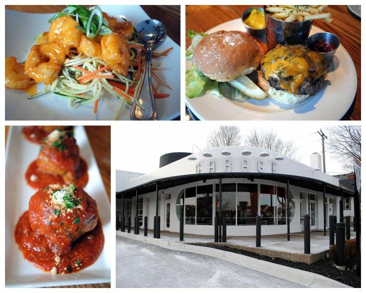 Vintage themes. Restaurant Review: Garage Grill  Fuel Bar in Northville, MI