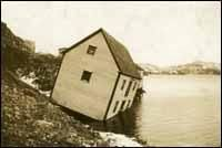 November 1929, earthquake occurred on the Grand Banks..  (sent a tsunami racing towards NL's Burin Peninsula).  measured 7.2 on the Richter scale, giant waves between 3 and 27 ft tall hit the coast at 40 km/hr. The force crushed buildings, lifted houses off foundations, swept schooners & vessels out to sea, destroyed wharves, flakes, and structures along the coast. The disaster killed 28 people and left hundreds more homeless. .most destructive earthquake-related event in Canadian history.