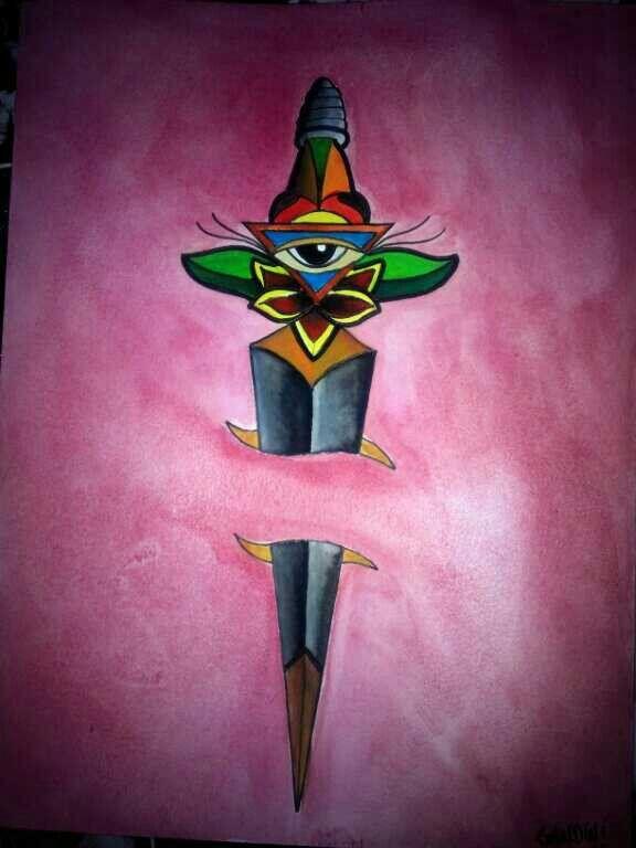 Tattoo flash dagger ganesha art tattoo studio for Corpus christi tattoo shops