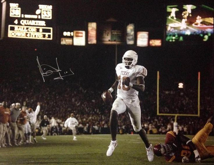 VINCE YOUNG SIGNED 16X20 FRAMED PSA COA AUTOGRAPH 16X TEXAS UNIVERSITY NATIONAL