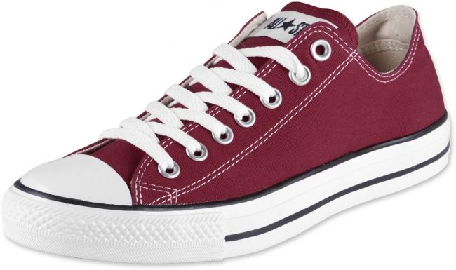 Converse All Star Basse Bordeaux Femme
