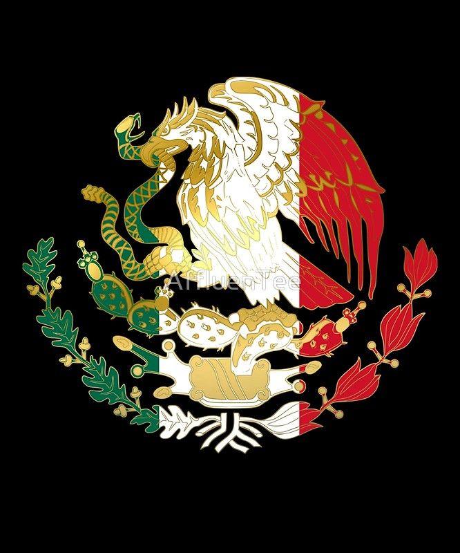Águila del oro, del verde, blanca, y roja ofrecida en la bandera mexicana. Feliz dia de la Independencia de México tee. Gran camiseta para mostrar su orgullo, Orgullo Mexicano, el Día de la Independencia mexicana Sábado, 16 de septiembre de 2017. 16 de Septiembre. • Buy this artwork on apparel, stickers, phone cases y more.