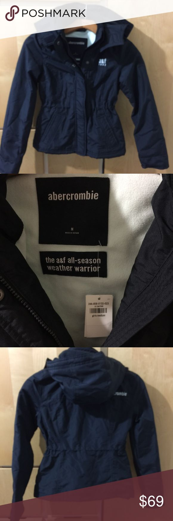 NWT Abercrombie Girl Coat Brand new with tag. Very warm coat. Fit 8- 10 years old. Dark navy blue color abercrombie kids Jackets & Coats