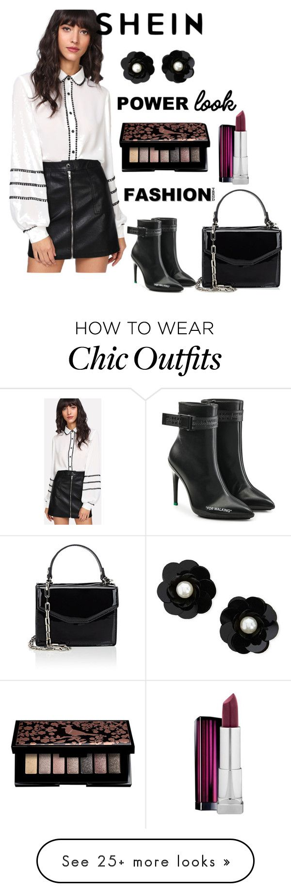 """""""Shein"""" by audreybrookezaring on Polyvore featuring Deux Lux, Off-White, Maybelline and Forever 21"""