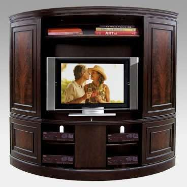 Superb Curved TV Armoire With Media Storage U0026 Sliding Doors