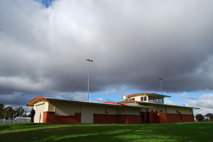 Ritek curved roof panels used at this sporting clubhouse.