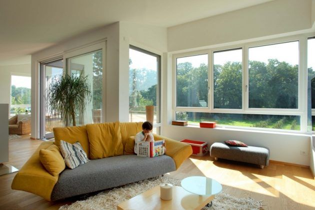 59 best Innen images on Pinterest Living room, Apartments and - grose fenster wohnzimmer