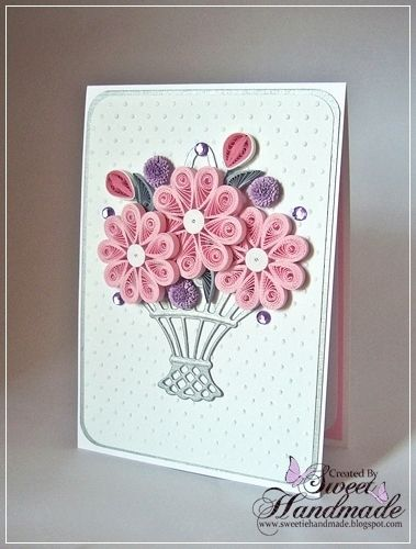 *QUILLING ~ Sweet Handmade, BirthDay Cards                                                                                                                                                                                 More