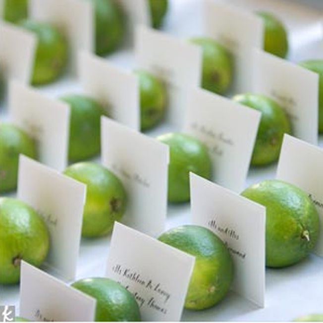 lime wedding name cards, but with lemons of course since YELLOW >