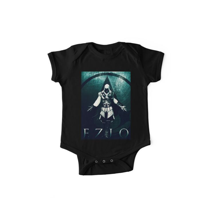 Ezio Auditore II baby  One Piece - Short Sleeve. 20% OFF Use HOMERUN20.  #babyclothing #babyonesie #babyshowergifts #gamersbaby #gamer #gaming #babygifts #assassinscreedbabyclothes #onesie #newborn #sales #save #discount #newborngifts