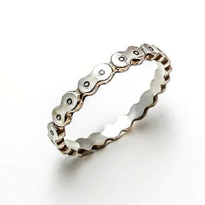 Bicycle Chain Ring Wide Silver on Etsy, ¥16,666.67