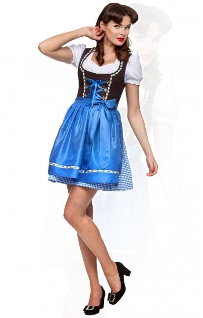 German mini dirndl 2pcs. Judy azure 50 cm oktoberfest dirndl