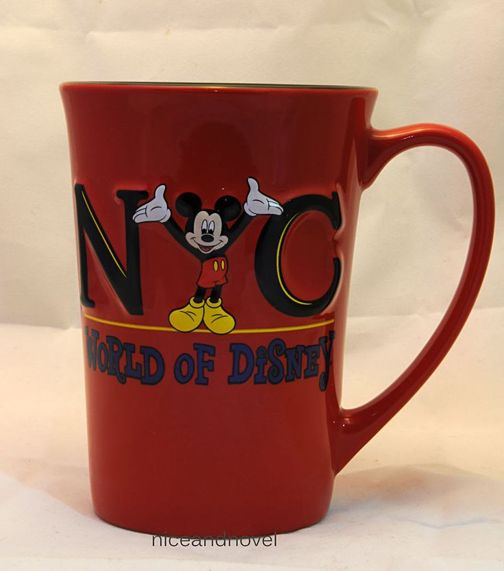 NYC New York City World of Disney Tall Embossed 3D Mug Cup Mickey Mouse