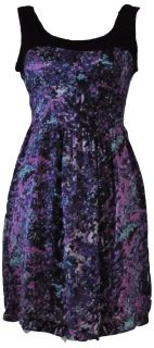 All over splashes of color make this dress mesmerizing.