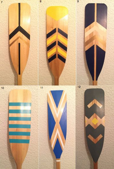 Painted Canoe Paddle by ThisNThatTO on Etsy