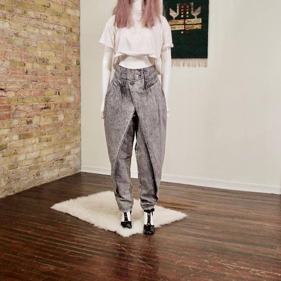 z cavaricci fold front jeans / pleated jeans / peg jeans /
