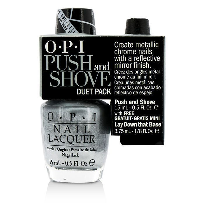 OPI Push and Shove Duet Pack (1x Nail Lacquer, 1x Mini Base) 2pcs
