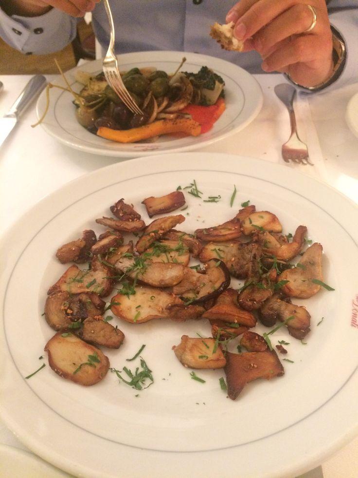 Antipasto dal carrello + funghi porcini alla griglia - Chez Donati