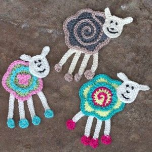 Colorful sheep crochet applique  ☀CQ #crochet #crafts #DIY  Thanks so much for sharing! ¯\_(ツ)_/¯