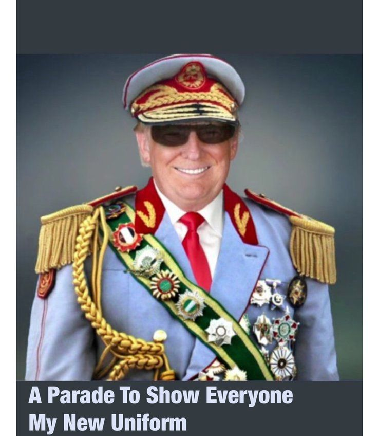 """Trump's impending idea of a huge Military Parade in Washington primarily strokes his equally huge ego and lust for power, but is also one more evil divide & conquer wedge against the unity of the American people. If you support Trump and the Parade you """"Love"""" America, and if you detest Trump and the Parade you're labeled at least Un-American, if not an outright Traitor -- Just more Trump divisiveness and Tacky Pomp without Circumstance, Cheesy Style without Substance!!"""