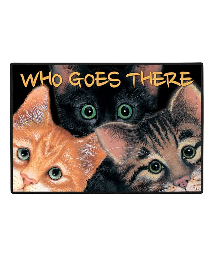 'Who Goes There' Peeping Toms Doormat
