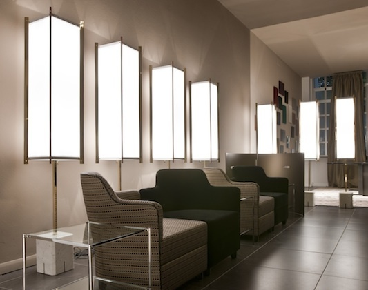 The Prisma floor lamp by Ignazio Gardella, as seen @Saloni 2012