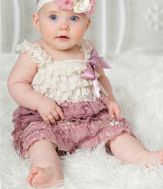 Ruffle Rompers Photo Props Clothing