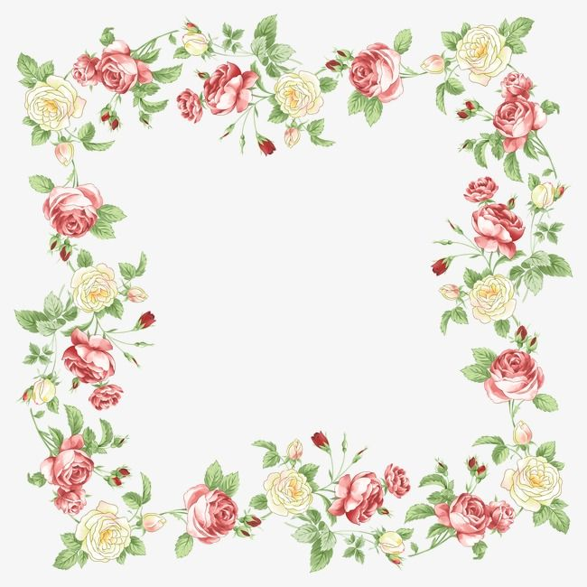 Floral Border Design Vector Graphic Design Frame Flowers And Trees Png And Vector With Transparent Background For Free Download Floral Border Design Floral Border Flower Frame