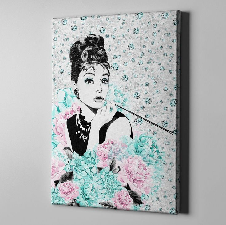 Audrey on Diamonds Gallery Wrapped Canvas #BedroomIdeas
