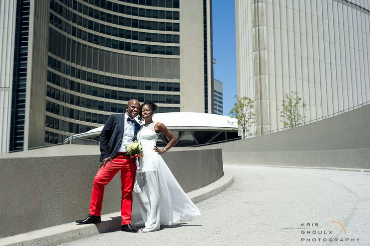 happy newly-weds on one of the best days of the year at Toronto City Hall #wedding #photography