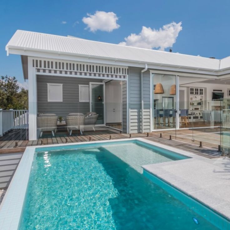 The best beach house and pool design isn't hard! @the_beach_lounge