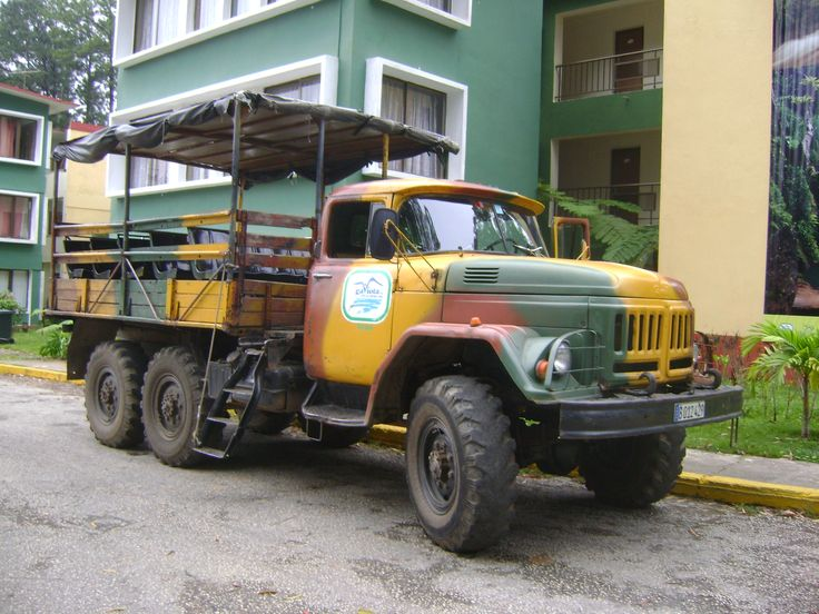 Left Hotel Los Helechos, Trinidad; Our journey  was aboard this Russian truck to travel to Parque Guanayare & Tropes de Collantes.