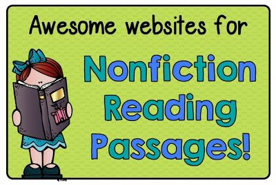 Great links to free websites for nonfiction reading passages!